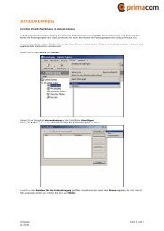Kurzanleitung E-Mail (Outlook Express) - Primacom