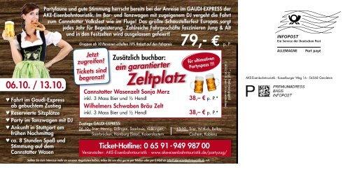 Mailing Gaudi Express Juli 2012 - AKE Eisenbahntouristik