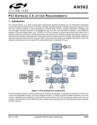 pci express 3.0 jitter requirements - Silicon Laboratories Inc.