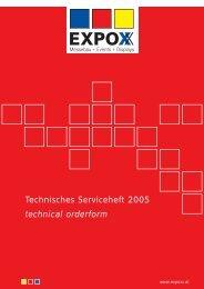 Technisches Serviceheft 2005 technical orderform - Copernicus ...