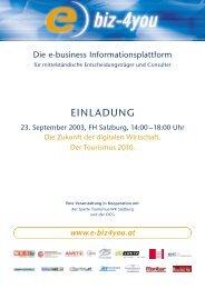 Einladung e-biz4you