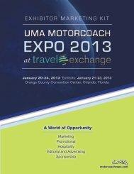 EXHIBITOR MARKETING KIT - UMA Motorcoach Expo