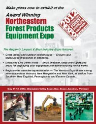 Northeastern Forest Products Equipment Expo