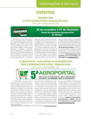 6. Informações e Serviços - Seagri - Governo da Bahia