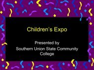 Children's Expo - Southern Union State Community College