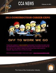 2013 construction career expo - Calgary Construction Association