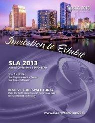 SLA 2013 Exhibitor Prospectus - Special Libraries Association