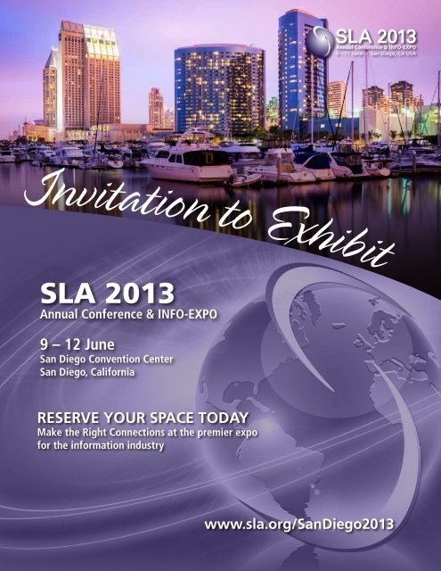 SLA 2013 Exhibitor Prospectus - Special Libraries Association