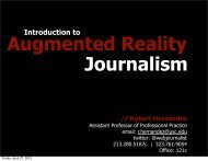 Augmented Reality Journalism