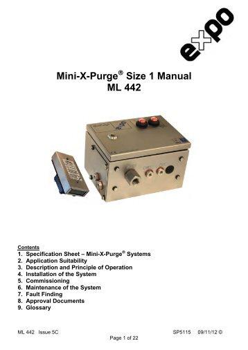 Mini-X-Purge Size 1 Manual ML 442 - Expo Technologies