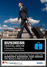 HUNGEXPO BUDAPEST FAIR CENTER X. Business Travel Show
