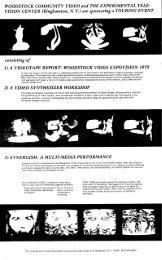 1) A VIDEOTAPE REPORT: WOODSTOCK VIDEO EXPO ... - Vasulka