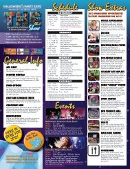 General Info Schedule Show Extras Events - Halloween & Party Expo