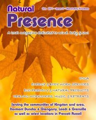 October/2011 - Natural Presence Magazine