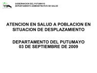 Presentacion Putumayo - DISASTER info DESASTRES