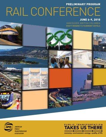 APTA 2010 Rail Conference Preliminary Program - American Public ...