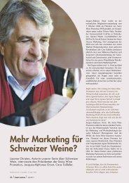 Mehr Marketing für Schweizer Weine? - Pauli Cuisine