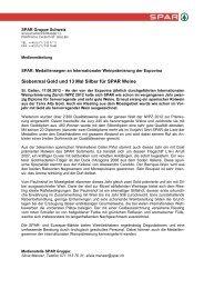 Medienmitteilung pdf - SPAR Handels AG