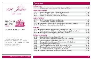 Österreich - Fischer Weine