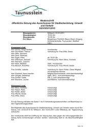Sitzung des Ausschusses für Stadtentwicklung ... - Taunusstein