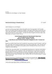 Einladung PK VIVA Touristika - Frankfurter Presseclub