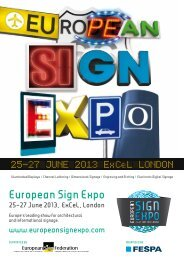 European Sign Expo 25-27 June 2013, ExCeL, London ... - FESPA