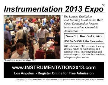 Instrumentation 2013 Expo - WestMark Sales, Inc.