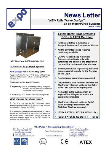 Certified motorPurge Systems New RLV Design IEC-ATEX - Expo ...