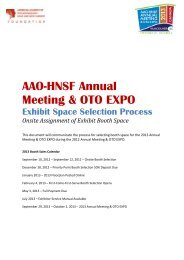 AAO-HNSF Annual Meeting & OTO EXPO - Entannualmeeting.org
