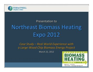 Results - Northeast Biomass Heating Expo 2013