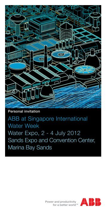 ABB at Singapore International Water Week Water Expo, 2 - 4 July ...