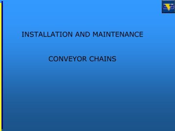 installation and maintenance conveyor chains - Agrifeedonlineexpo