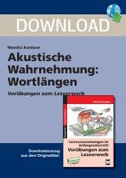 Akustische Wahrnehmung: Wortlängen - Persen Verlag