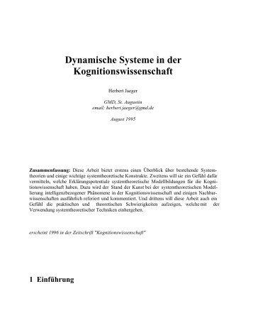Dynamische Systeme in der Kognitionswissenschaft - MINDS