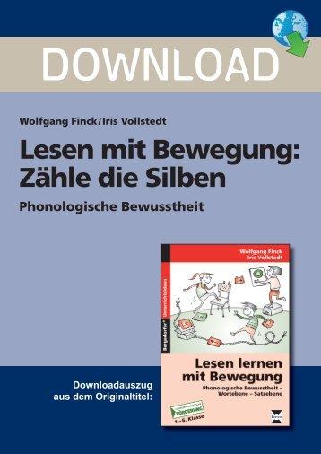 Lesen mit Bewegung: Zähle die Silben - Persen Verlag