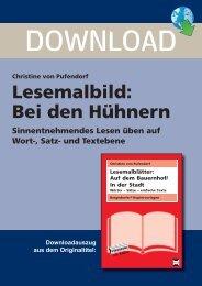 Christine von Pufendorf Lesemalbild: Bei den Hühnern - FORREFS