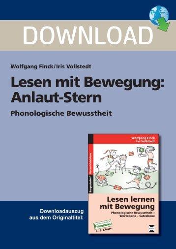 Lesen mit Bewegung: Anlaut-Stern - Persen Verlag