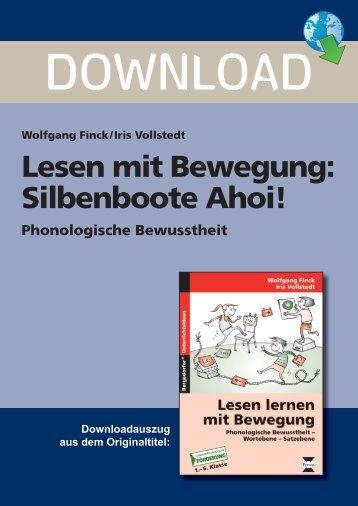 Lesen mit Bewegung: Silbenboote Ahoi! - Persen Verlag