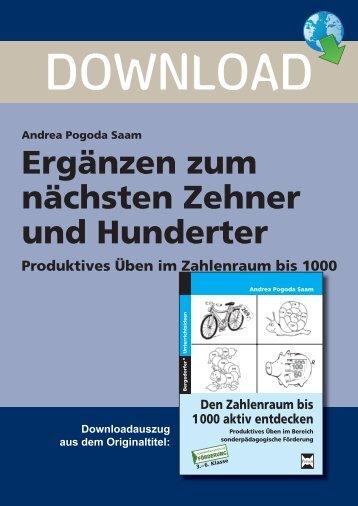 Ergänzen zum nächsten Zehner und Hunderter - Persen Verlag