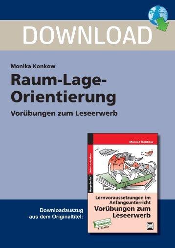 Raum-Lage- Orientierung - Persen Verlag