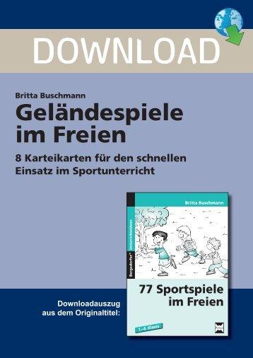 Geländespiele im Freien - Persen Verlag
