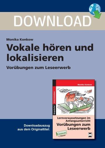 Vokale hören und lokalisieren - Persen Verlag