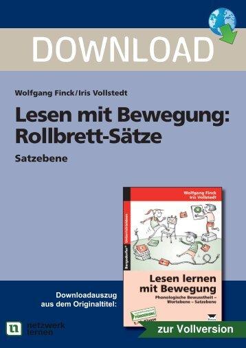 Lesen mit Bewegung: Rollbrett-Sätze - Netzwerk Lernen