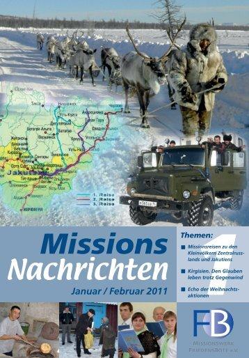 Nachrichten 2011-1 - Missionswerk FriedensBote