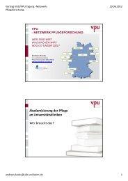 Andreas Kocks - VPU-Netzwerk Pflegeforschung