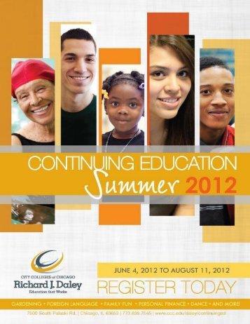 Richard J. Daley College Summer 2012 Schedule Arturo Velasquez ...