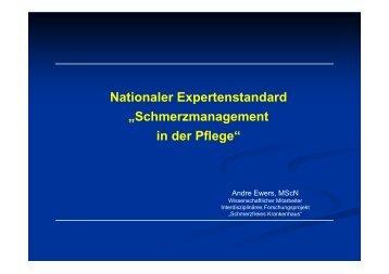 """Nationaler Expertenstandard """"Schmerzmanagement in der Pflege"""""""
