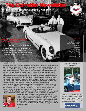 The Corvetter Newsletter - Sam Houston Corvette Club