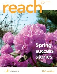 Spring/Summer 2012 edition - Rosecrance Health Network