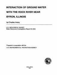 interaction of ground water with the rock river near byron ... - USGS